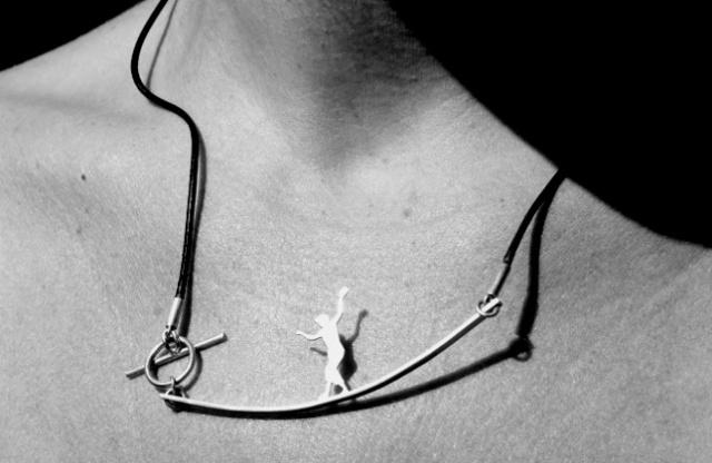 Slackline Girl Necklace